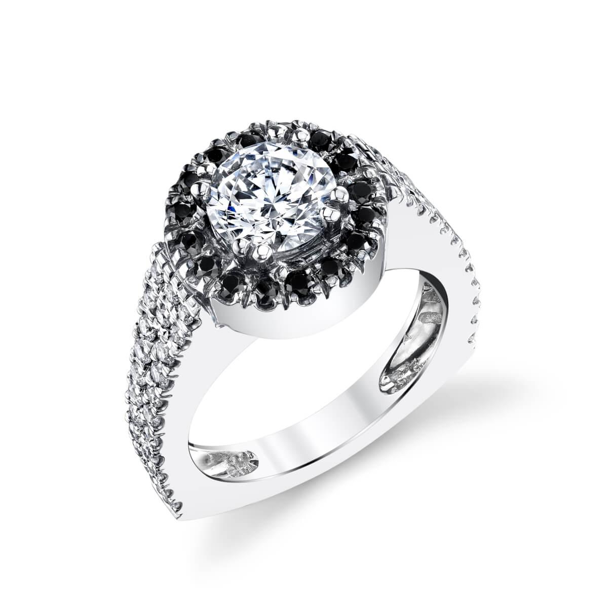 circle of diamonds engagement ring
