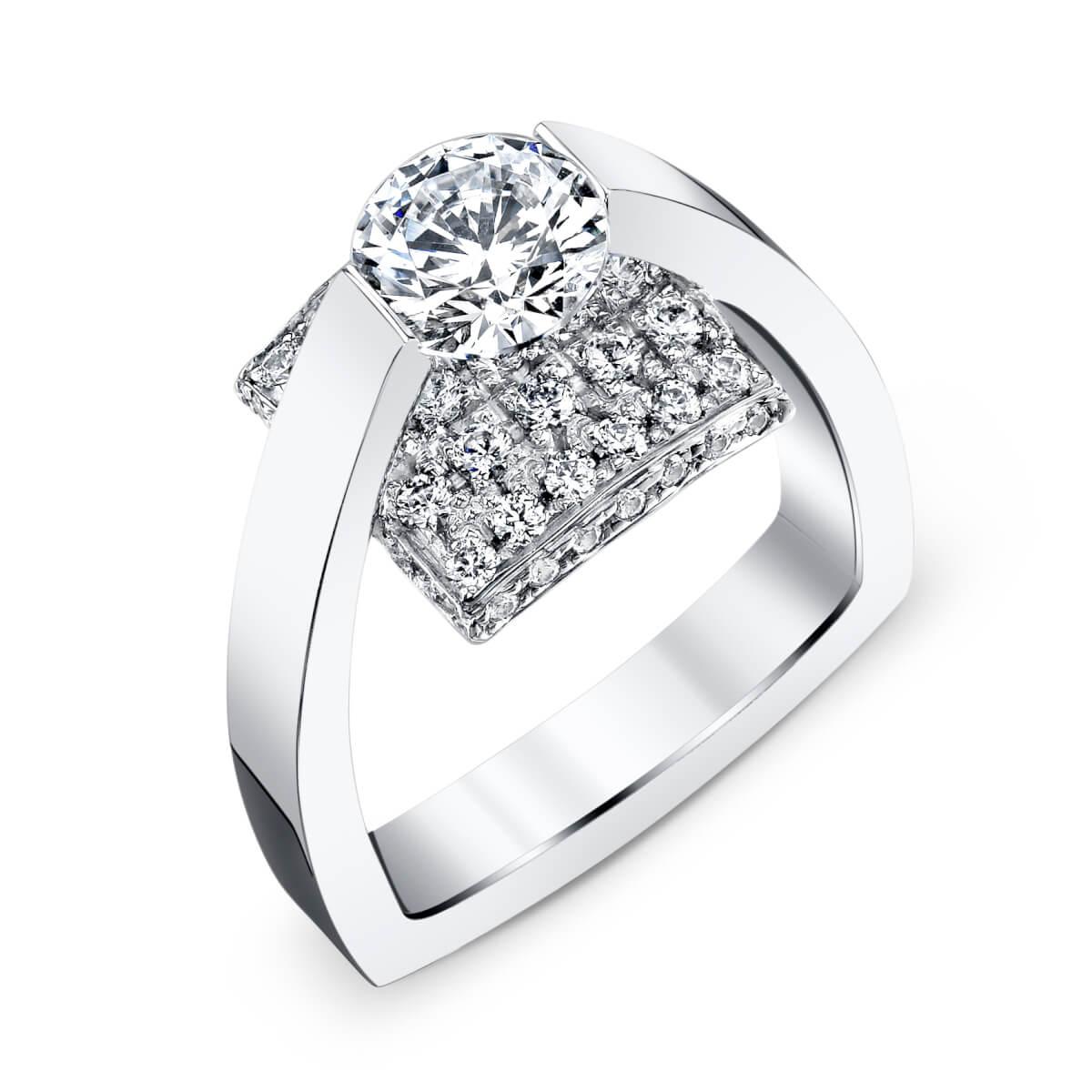 cushion engagement ring setting