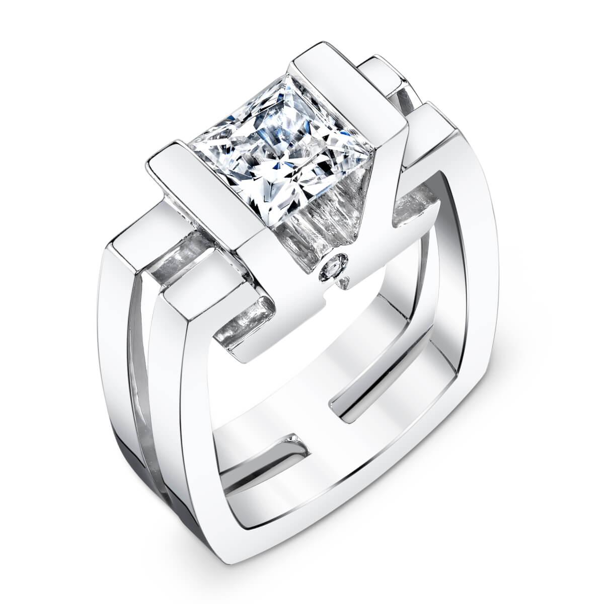 unique engagement ring setting