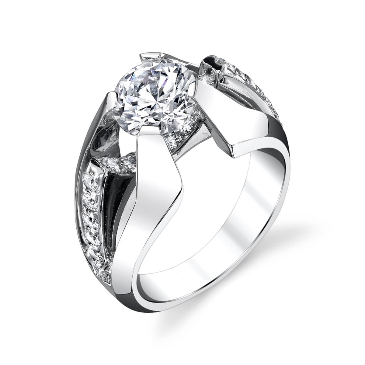 unique diamond setting engagement ring