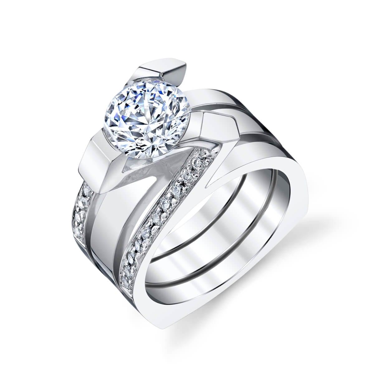 unique setting engagement ring