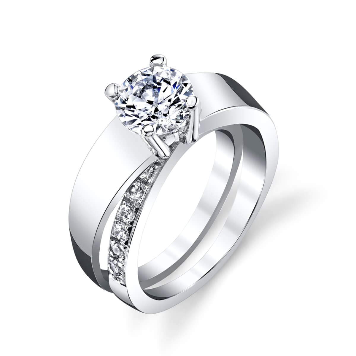 unique engagment ring band
