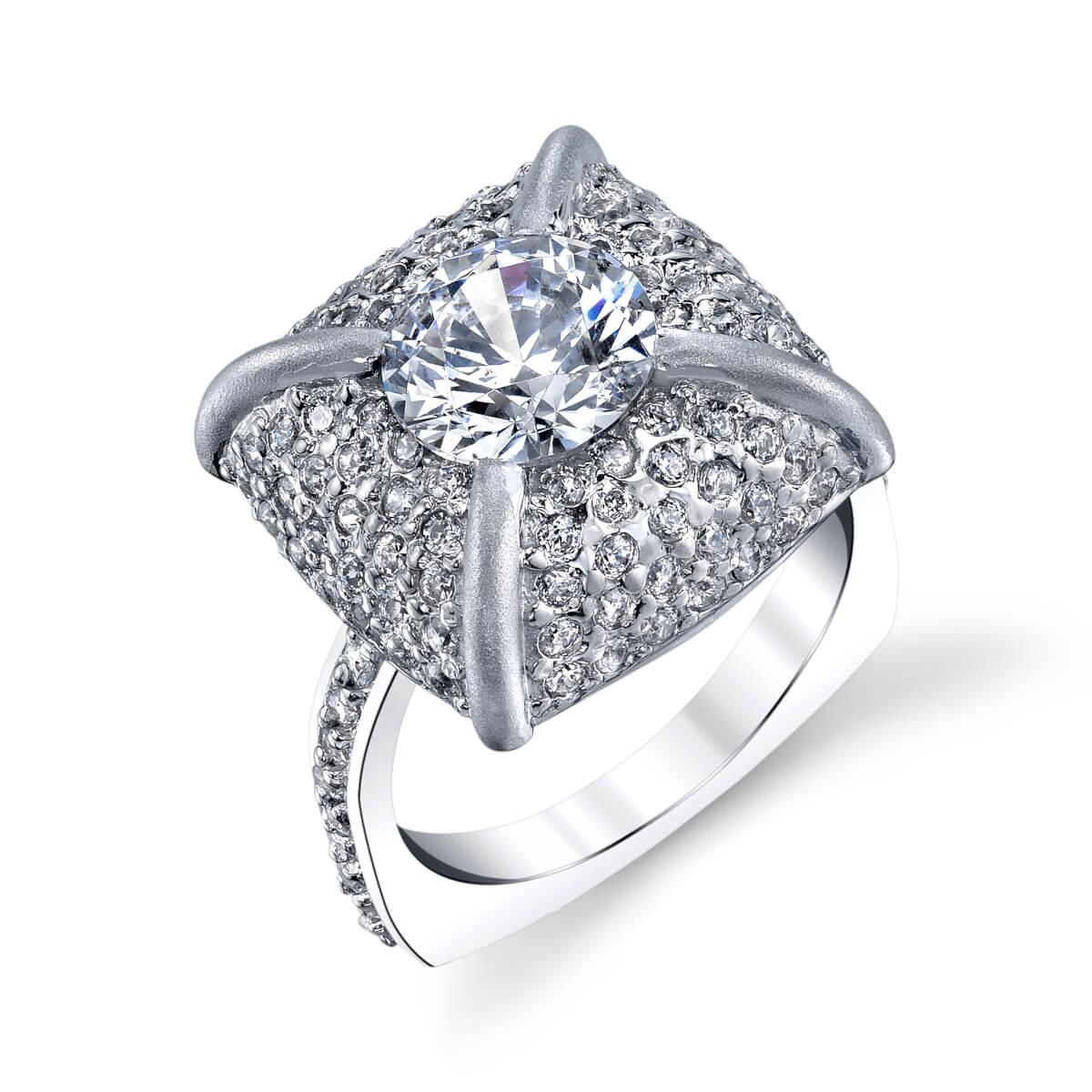 pillow diamond ring design