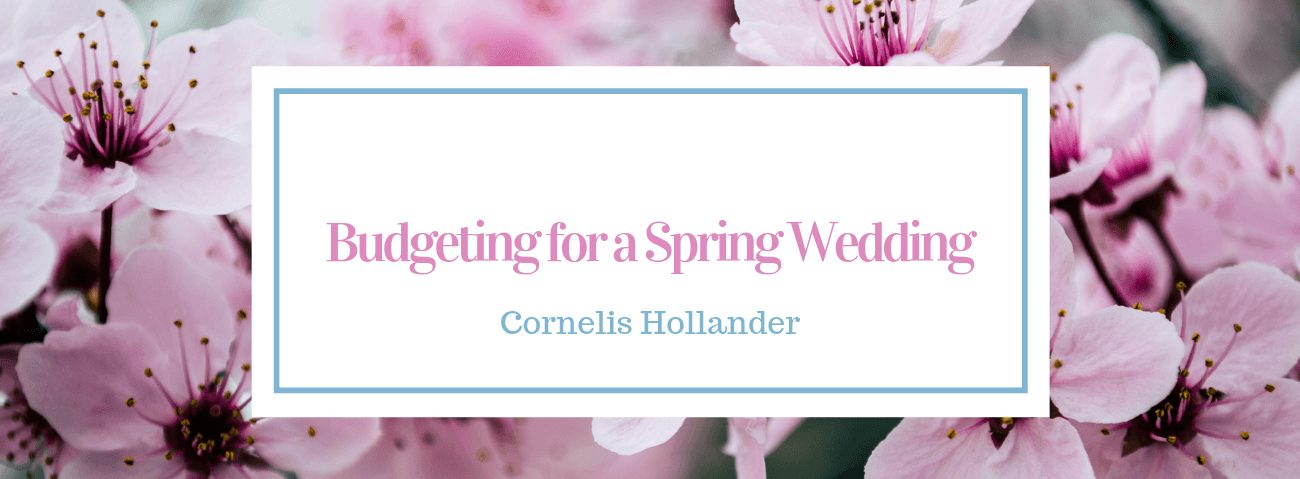 budgeting for a spring wedding