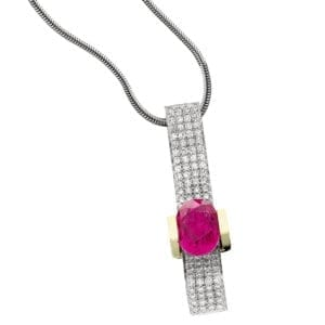 18KWY Rubellite Necklace CH446
