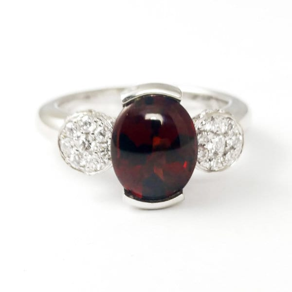Garnet Ring R859 Front View