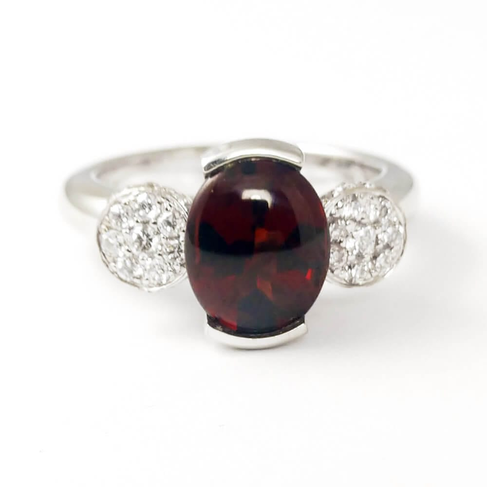 Garnet Ring R859 Front View