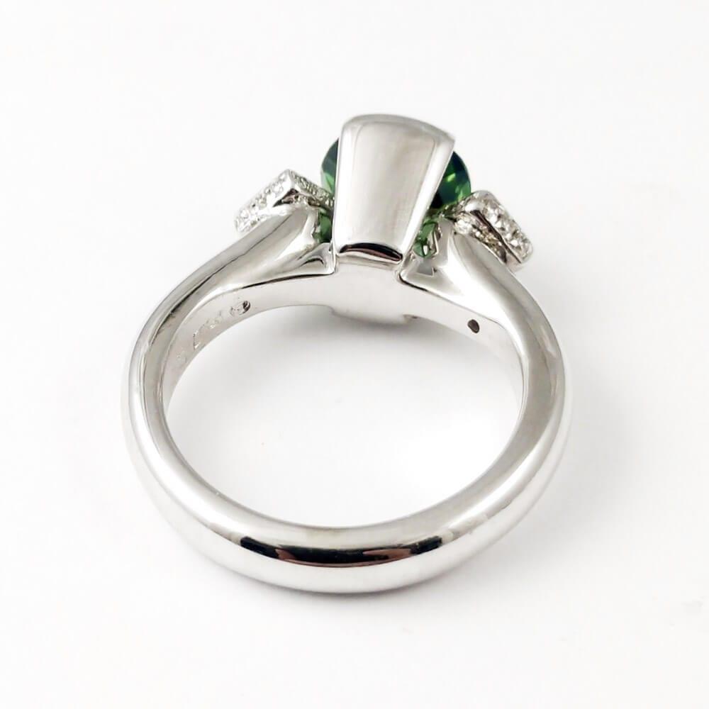 Green Tourmaline Ring R860 Inside View