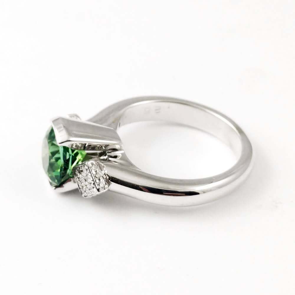 Green Tourmaline Ring R860 Left View