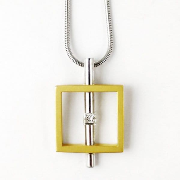 18KWY Art Deco Diamond Necklace 5101D