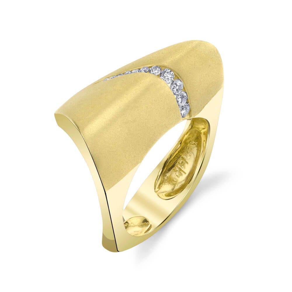 14KY Wave Diamond Ring R067