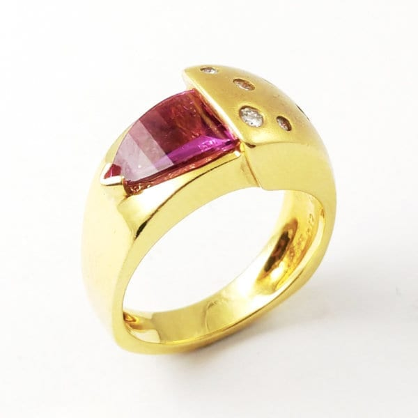 18KY Rubellite Tourmaline Ring R155