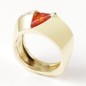 14KW Fire Opal Ring R297