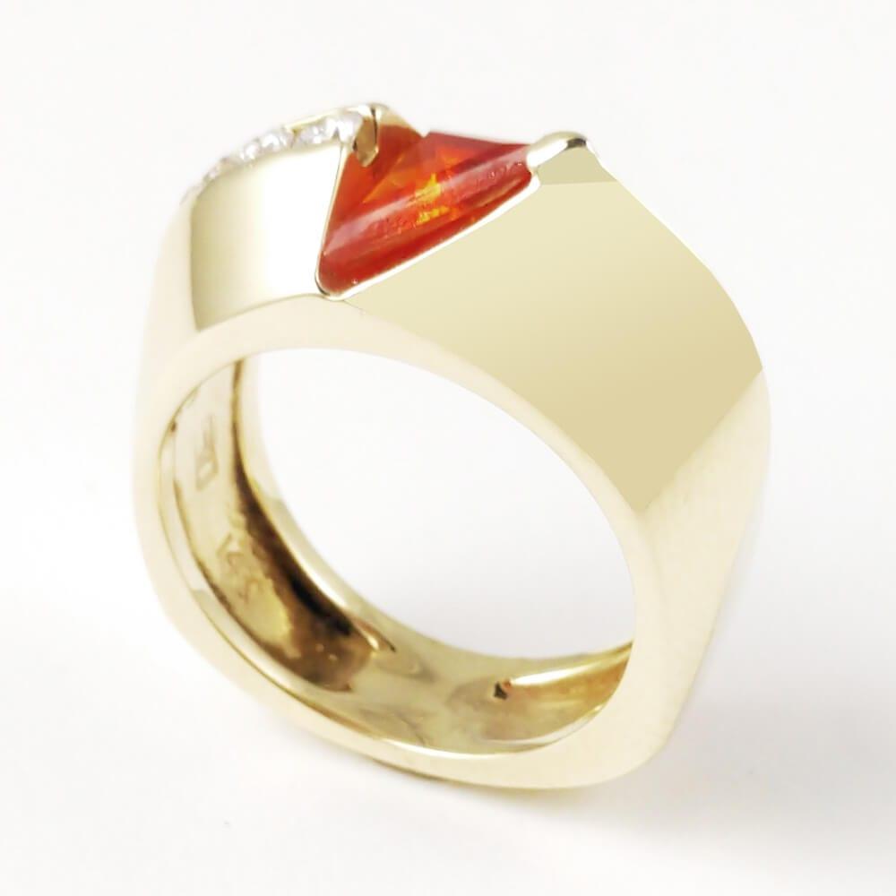 14KW Fire Opal Ring R297